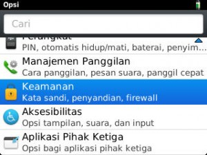 Kemanan Sandi BlackBerry