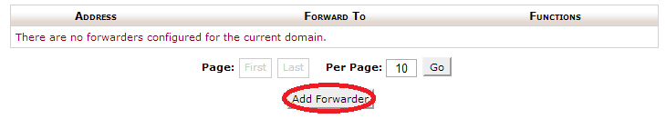 add forwarder email
