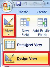 menu design view