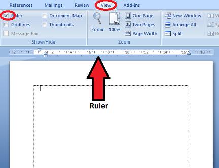 Memunculkan ruler di M Word