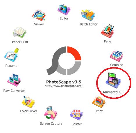 Menu Animated GIF di Photoscape