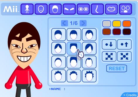 membuat avatar di Mii characters