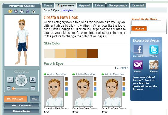 membuat avatar di Yahoo