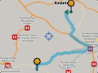 Dengan begitu maka GPS Maps akan mencarikan jalan menuju lokasi teman