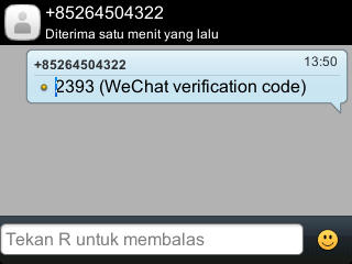 SMS dari WeChat