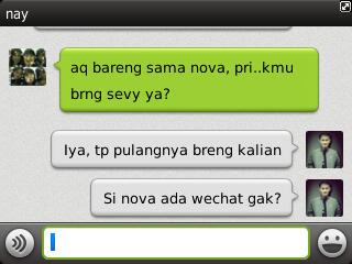 Tampilan Chatting di WeChat