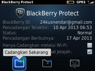 Backup Data BlackBerry via BB Protect