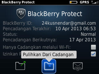 Restore Data BlackBerry via BB Protect