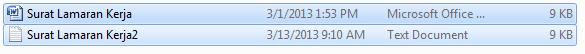 File Word berubah 9 Kb