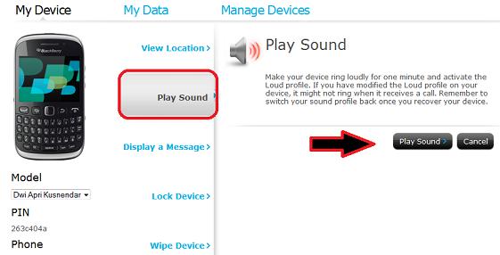 Membunyikan Suara Dering BlackBerry Lewat Komputer via