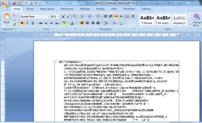 File word menjadi 9kb