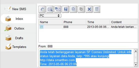 SMS balasan paket smartfren