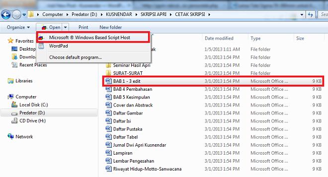 cara membuka file word 9KB