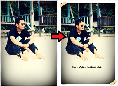 edit frame dan text photoscape