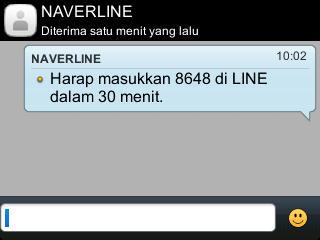 SMS daftar Line