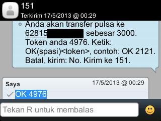 SMS Transfer Pulsa Indosat