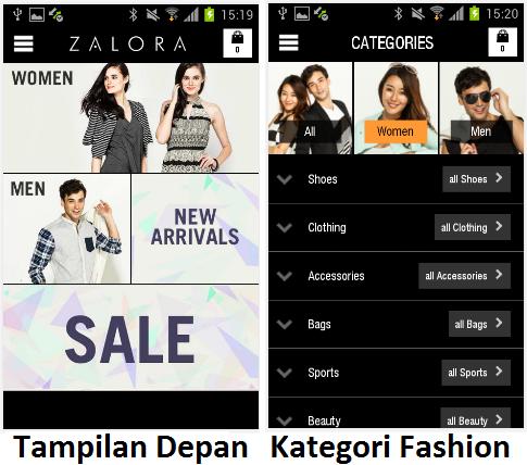 Aplikasi Android Zalora online