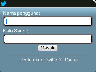 Aplikasi Twitter Blackberry