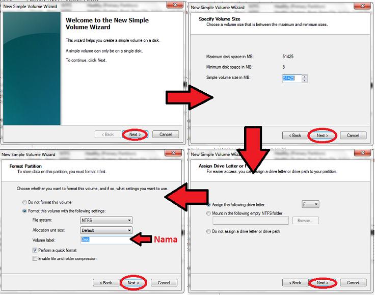 Cara partisi hardisk windows 7 tanpa software