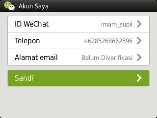 how to set password for wechat