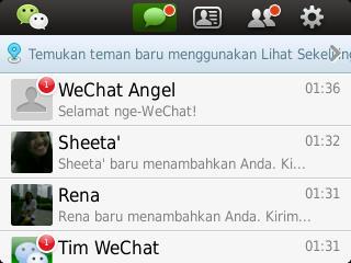 Jeeeng jeeeeenggg akhirnya akun WeChat anda sudah jadi