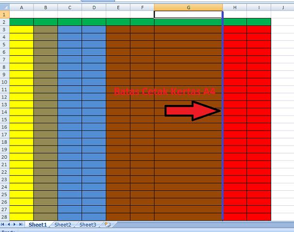 cetak file di Excel