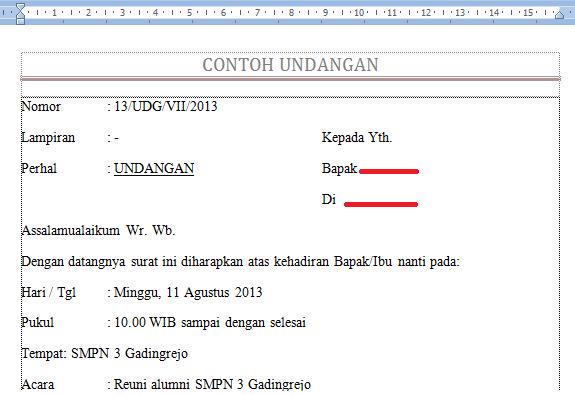menggunakan mail merge di word