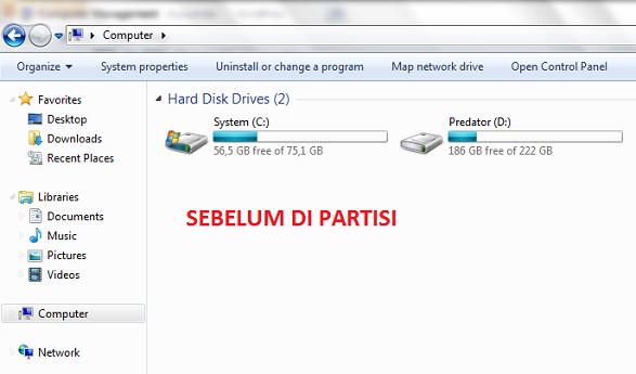 partisi hardisk windows 7
