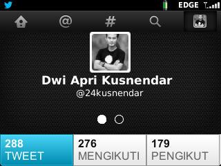 tampilan profil twitter BB