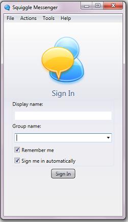 cara menggunakan Squiggle Messenger