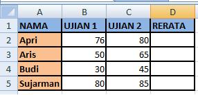 data untuk warna angka excel