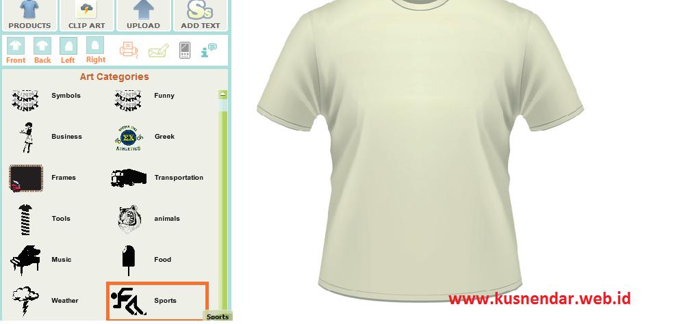 Membuat Desain Kaos Online Sendiri | Kusnendar