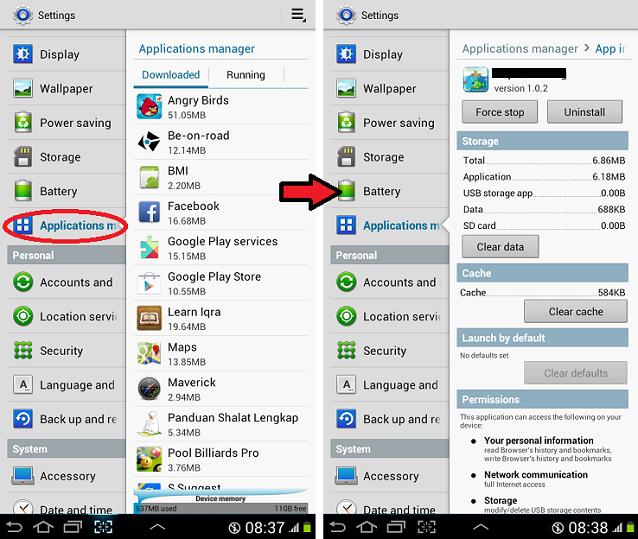 managemen aplikasi android