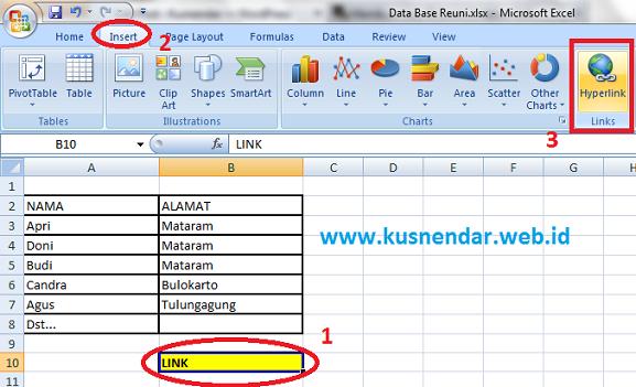 Belajar Membuat Hyperlink di Microsoft Excel Sendiri   Kusnendar
