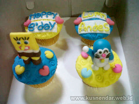 Cupcake 3D Topper Spongebob