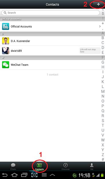 Cara Mencari dan Menambah Kontak Teman di WeChat