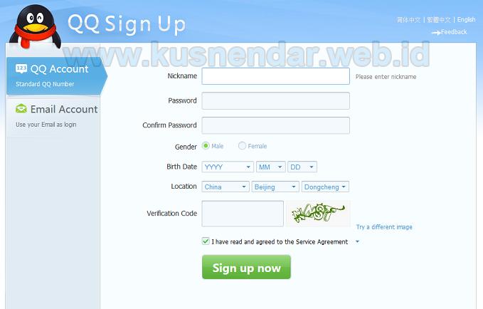Daftar dan Buat Akun QQ ID di Komputer   Kusnendar