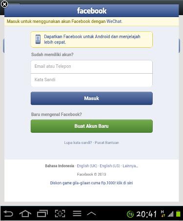 Connect WeChat ke FB_5