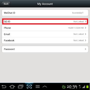 Connect WeChat ke QQ ID