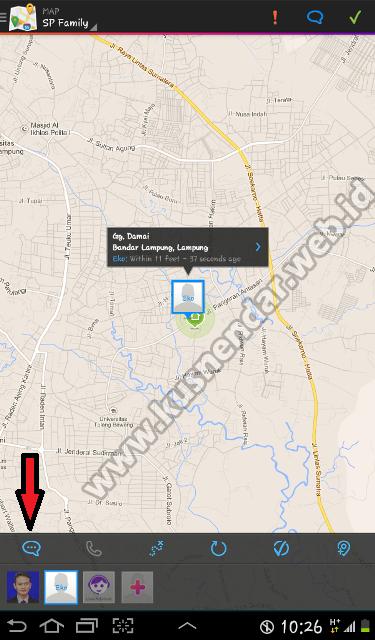 ... Lokasi HP android yang Hilang dengan Aplikasi Android Find My Friends