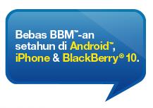 Paket Internet Tri untuk BBM Android iPhone