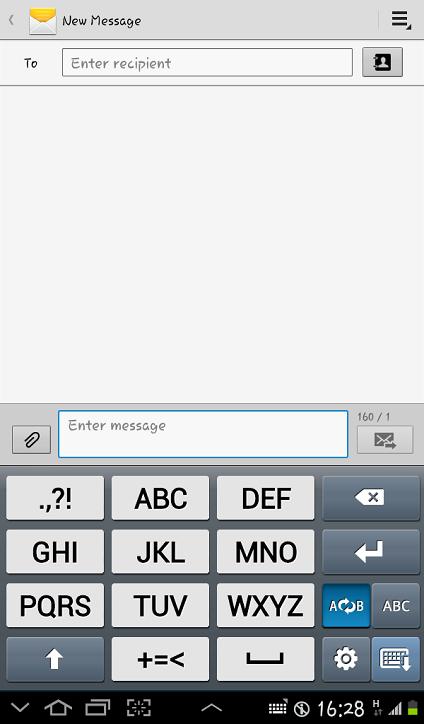 Tampilan Keyboard 3x4 Keypad