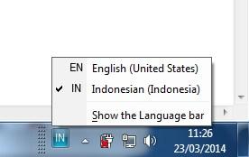 bahasa keyboard di taskbar