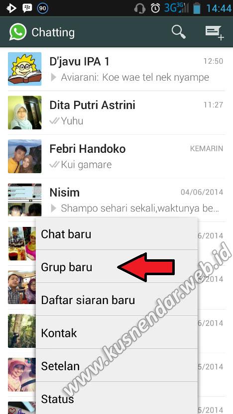 Membuat Grup Baru Whatsapp