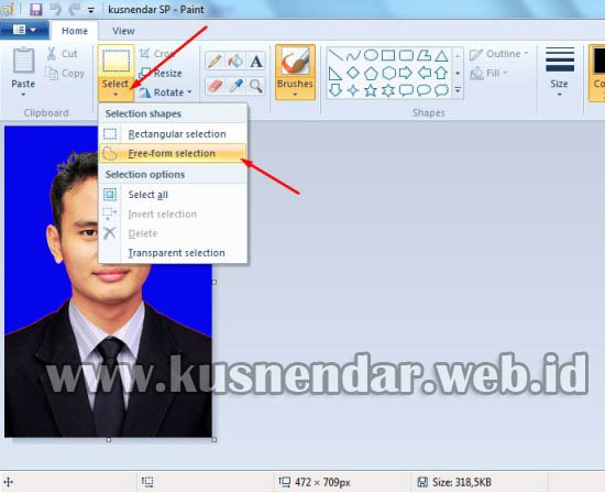 Cara Ganti Background Foto dengan Paint | Kusnendar