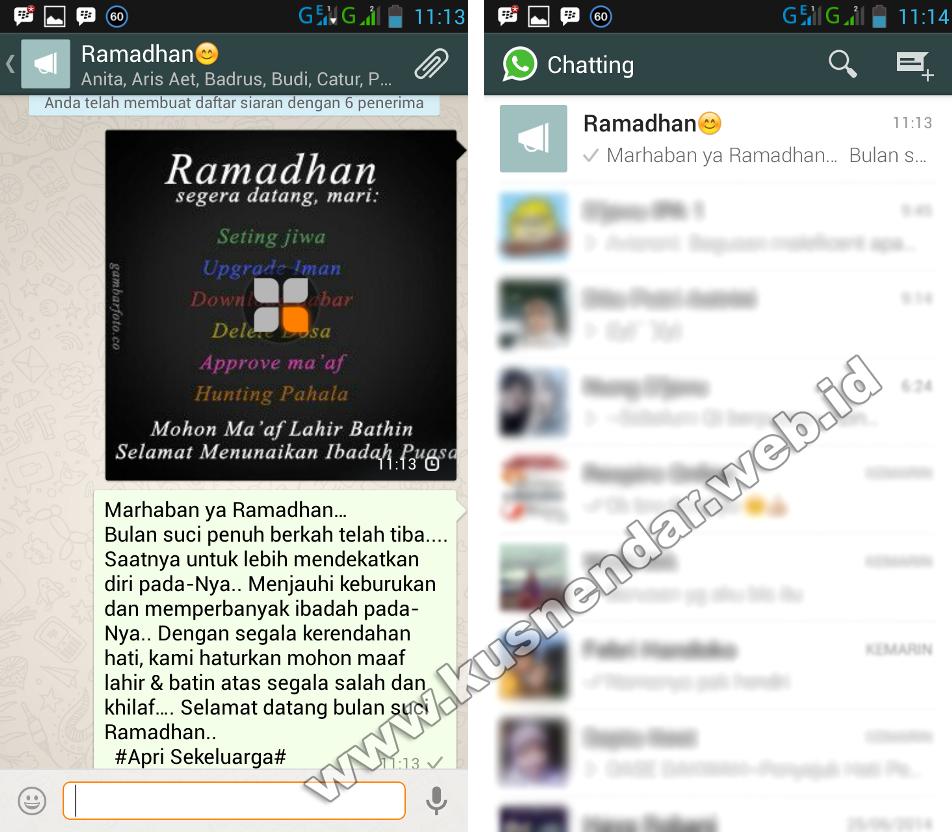 Cara Broadcast Pesan Dan Gambar Di Whatsapp Ke Semua Kontak Kusnendar