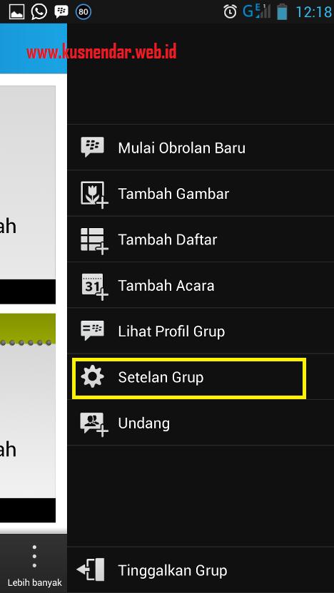 menu grup BBM Android