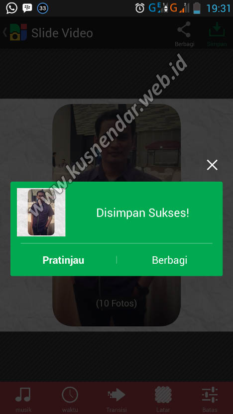 proses penyimpanan video android