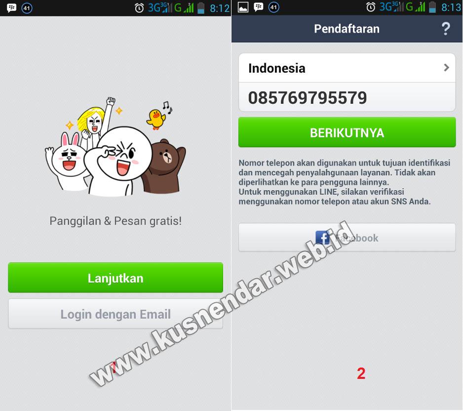 Cara Daftar Akun Aplikasi Line di Android