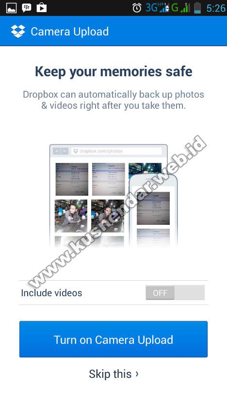 langkah drop box android